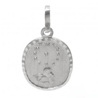 Basic Silber STG16 Kinder Anhänger Taufuhr mit Engel Silber