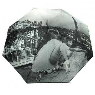 Y Not 55547 Super Mini City Paris Grau Taschenschirm