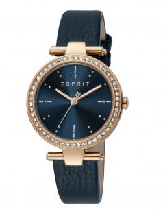 Esprit ES1L153L1025 Ruby Uhr Damenuhr Lederarmband blau