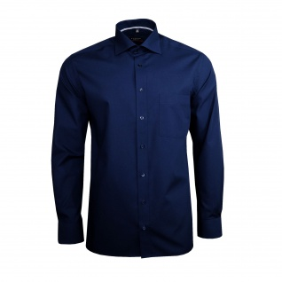 Eterna Herren Hemd Langarm Modern Fit Blau XL/44 Hemden 1101/19/X187