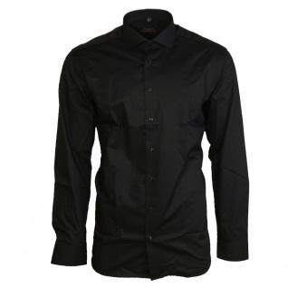 Eterna Herrenhemd Langarm Slim Fit Schwarz L/41 Hemd 8424/39/F182