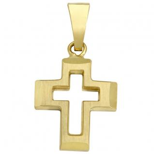 Basic Gold K06 Kinder Anhänger Kreuz 14 Karat (585) Gelbgold