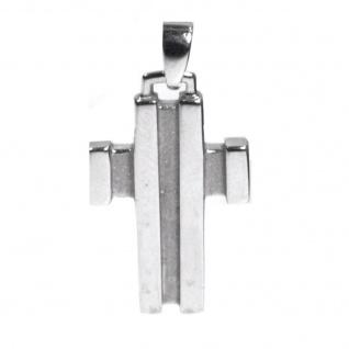 Basic Silber 27.9119S Herren Anhänger Kreuz Silber