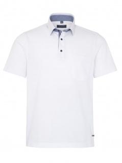 Eterna Herren Polo Shirt Kurzarm Comfort Fit Piqué Weiß XXXXL/50