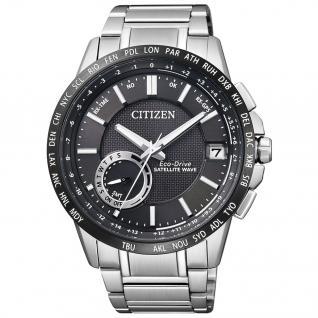 Citizen Elegant GPS Satellite Uhr Herrenuhr Edelstahl Datum schwarz
