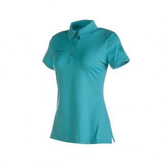 Mammut Damen Shirt Kurzarm Trovat Polo Women Blau Polohemd S