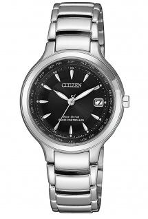 Citizen EC1170-85E Funkuhr Eco Drive Uhr Damenuhr Datum silber