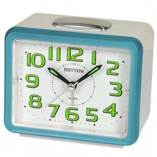 RHYTHM CRF802NR04 Wecker Uhr Alarm Weiss