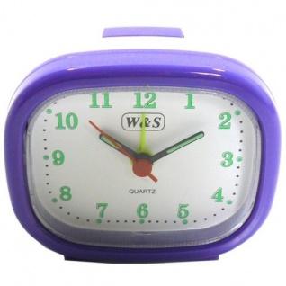 W&S 600105 Wecker Uhr lila-weiß Analog Licht Alarm - Vorschau 2