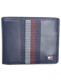 Tommy Hilfiger Herren Geldbörse Stitched Leather Mini CC Leder Blau - Vorschau 1
