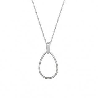 XENOX XS1473 Damen Collier Secret Circle Silber Weiß 60 cm
