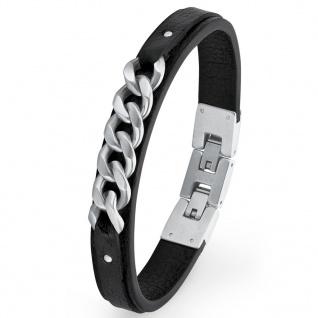 s.Oliver 2018694 Herren Armband Edelstahl Silber Schwarz 22 cm