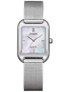 Citizen EM0491-81D Eco Drive Uhr Damenuhr Edelstahl silber
