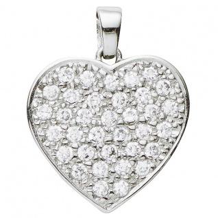 Basic Silber 29.1119S Damen Anhänger Herz Silber Zirkonia weiß