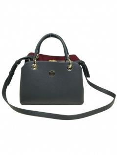 Tommy Hilfiger Damen Handtasche Tasche TH Core M Satchel Blau
