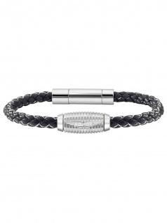 POLICE PJ.26456BLB/01 Herren Armband DANANG Silber Schwarz 20 cm
