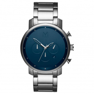 MVMT D-MC01-SBLU CHRONO Chronograph Uhr Herrenuhr Datum Silber