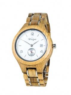 Waidzeit YN02 Barrique Sauvignon Blanc Uhr Herrenuhr Holz Datum Braun