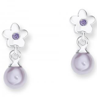 Prinzessin Lillifee PLFS/83 Mädchen Ohrringe Blume Silber lila