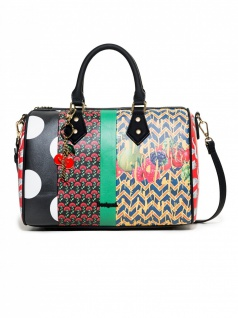 Desigual Handtasche Tasche LOLA PATCH BOWLING Mehrfarbig 18SAXPE1-3148