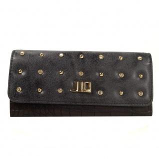 J.LO Geldbörse Brill Schwarz Braun 433NE 92 Geldbeutel Geldtasche - Vorschau 1