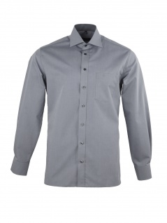 Eterna Herrenhemd Langarm Modern Fit Hellgrau Gr. M/40 8500/32/X157