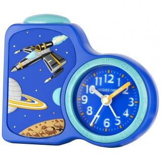 JACQUES FAREL ACB08SPA-R Weltall Wecker Junge Alarm blau