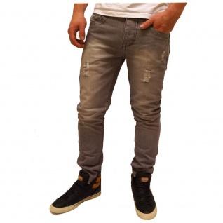 Authentic Style Herren Jeans Hose Slim Fit 5 Pocket Grau Gr. 33W / 32L