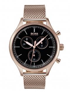 Hugo Boss 1513548 Compn Chrono Uhr Herrenuhr Edelstahl Datum Schwarz