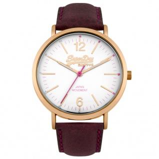Superdry SYL194V Oxford Uhr Damenuhr Lederarmband Braun