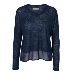 Vero Moda Damen Pullover Pulli SALLY Build LS Top Blau Gr. L