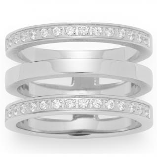 Leonardo Damen Ring Minimo Edelstahl weiß 56 (17.8)