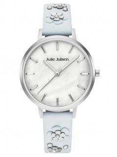 Julie Julsen JJW103SL-4B Uhr Damenuhr Lederarmband Blau