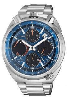 Citizen AV0070-57L Eco Drive Uhr Herrenuhr Chrono Datum silber