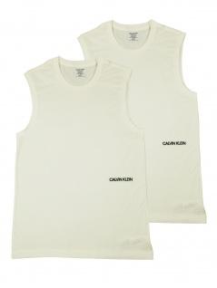 Calvin Klein Herren T-Shirt Ärmellos Muscle Tank 2er Pack Weiß XS