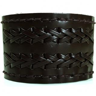 CJBB1892 Herren Armband Leder braun 21, 5 cm