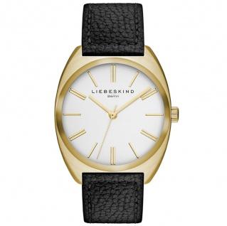 LIEBESKIND LT-0016-LQ Uhr Damenuhr Lederarmband schwarz