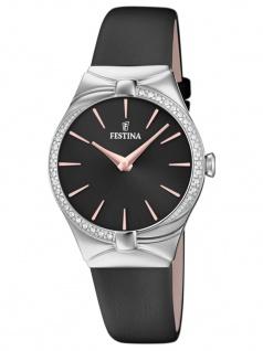 FESTINA F20388/3 Uhr Damenuhr Lederarmband Grau