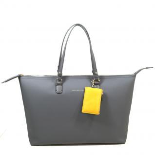 Tommy Hilfiger LOVE TOMMY Reversible Tote Grau Handtasche Tasche