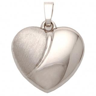 Basic Silber SH02 Damen Anhänger Herz Silber