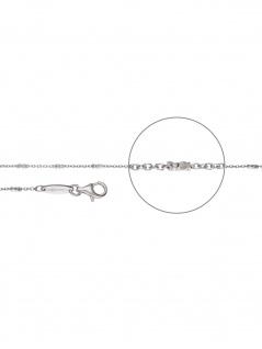 Der Kettenmacher A5-50S Anker Kette Silber 50 cm
