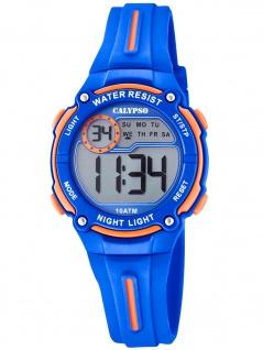 Calypso K6068/3 Chrono Uhr Junge Kinderuhr Kunststoff Datum blau