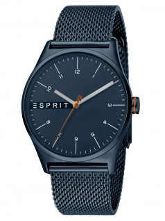 Esprit ES1G034M0095 Essential Blue Mesh - G Herrenuhr Edelstahl Blau