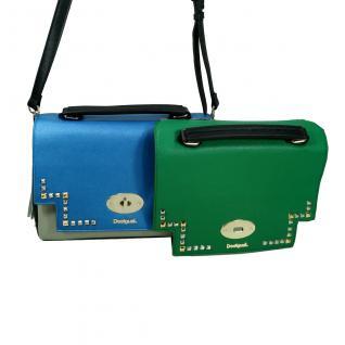 Desigual Bols Roma Tricolor Blau Grün 17WAXPFR-5011 Handtasche Tasche - Vorschau 4