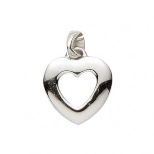 Basic Silber 21.1181S Damen Anhänger Herz Silber