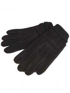 Esprit Herren Handschuhe Men knit suede gloves Größe M Schwarz