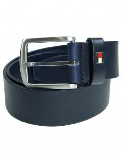 Tommy Hilfiger Herren Gürtel New Denton Belt Leder 125cm Blau