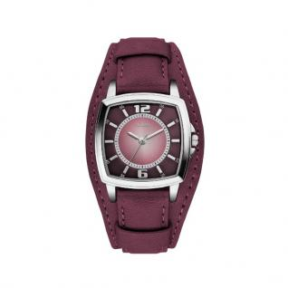 s.Oliver SO-3318-LQ Uhr Damenuhr Lederarmband Lila