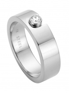 Esprit ESRG00572117 Damen Ring Gem Edelstahl Silber Weiß 53 (16.9)