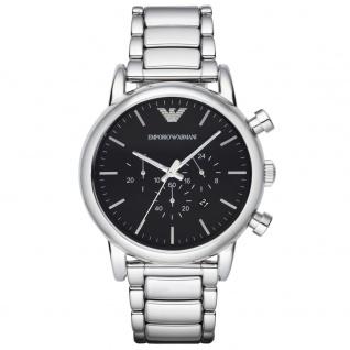 Emporio Armani AR1894 Chronograph Uhr Herrenuhr Chrono Datum Silber